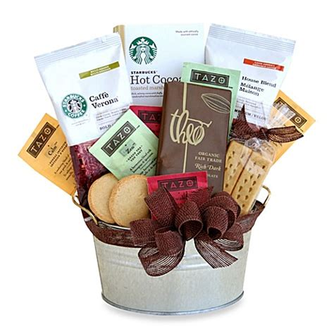 bed bath and beyond gift baskets buy starbucks 174 cocoa and coffee gift basket from bed bath beyond