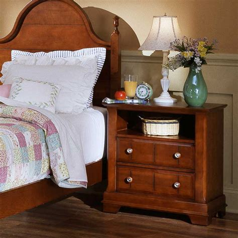 Cottage Nightstand by Vaughan Bassett Cottage Commode Nightstand Wayside