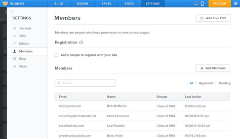 weebly church templates the membership website builder is here