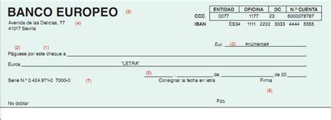 pagare conformado por el banco 191 c 243 mo se rellena un cheque bancario cu 233 ntica