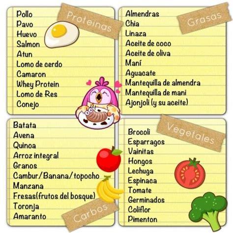 listado proteinas sascha barboza on twitter quot mi lista de alimentos