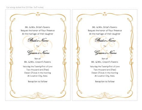 wedding scroll template free printable invitations of wedding invitation