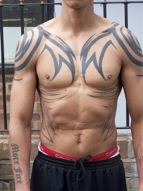 tribal chest tattoos for men designs design chest ideas for