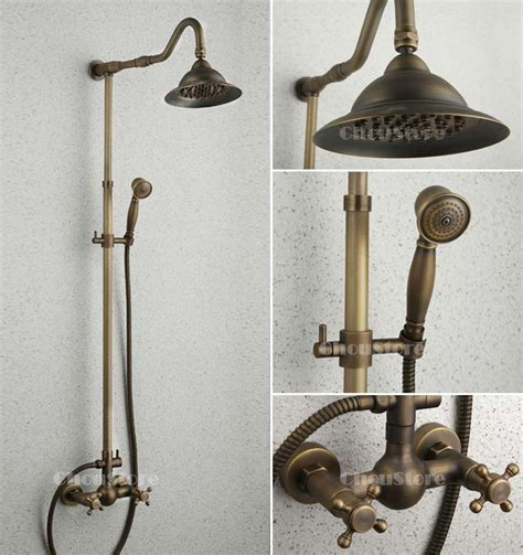 Vintage Style Antique Shower Bathroom Shower Set Bronze Shower Mixer Blue And White Porcelain Antique Bronze Bathroom Shower Faucet Set Wall Mount Shower Mixer Tap B152 Ebay