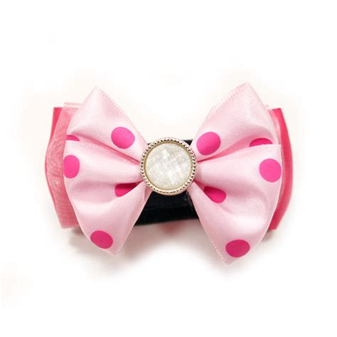 Pink Polka Does It Again Pet Pet Pet Product 6 by Easybow Polka Dot Delight Collar Attachment By Dogo