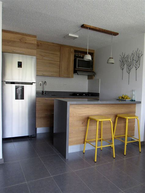 cocinas pequenas  apartamentos planos cocina