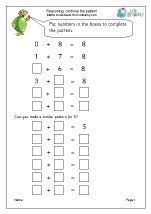 continue the pattern year 1 reasoning problem solving maths worksheets for year 1 age