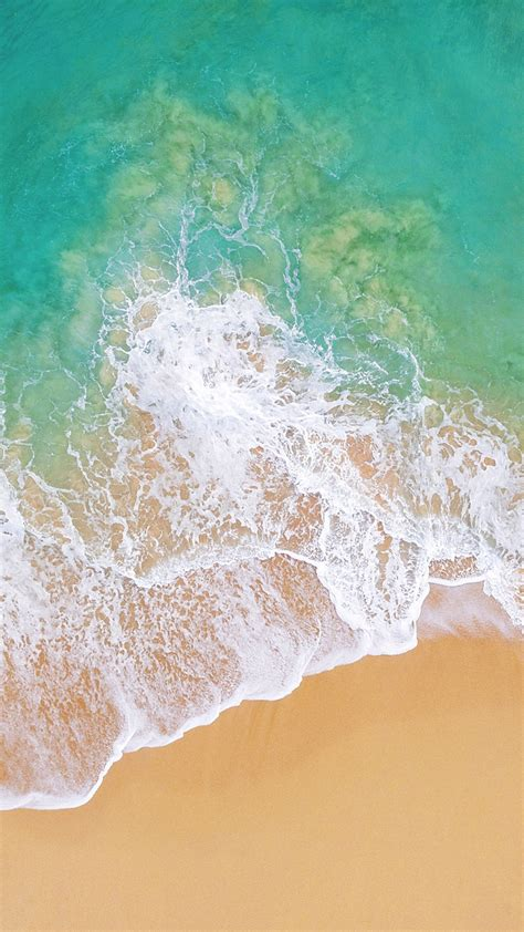 wallpaper ios    beach ocean os