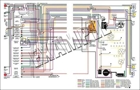 1956 chevy wiring diagram 1956 all makes all models parts 14505c 1956 chevrolet truck colored wiring diagram