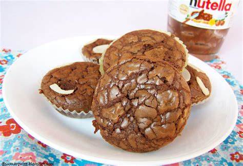 cakes and more super easy quick nutella brownies for world nutella day