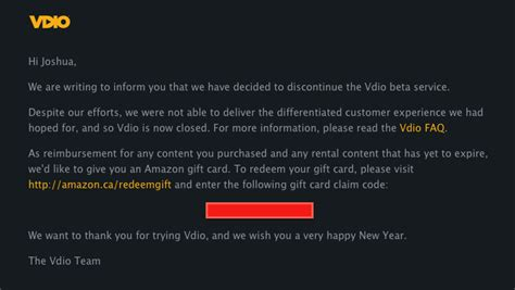 Rdio Gift Card - rdio shuts down video streaming site vdio offers amazon credits as reimbursement for