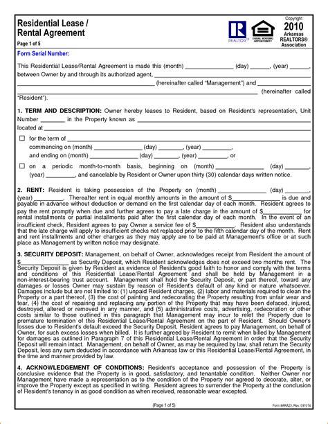 1 Year Lease Agreement - 6 1 year lease agreement printable receipt
