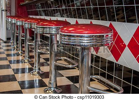 50s Bar Stools Chrome by Stock Photography Of Classic Diner Bar Stools Classic