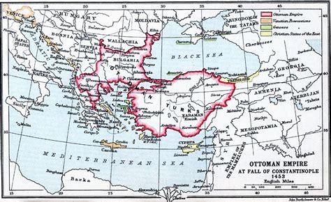 Ottoman Empire Map Ottoman Empire At Fall Of Constantinople