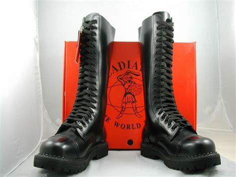 skinhead shoes made gladiator 20 eyelet leather steel toe cap