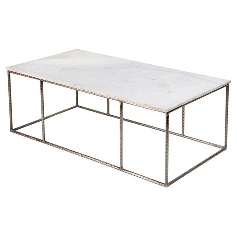 iron and marble table neha bazaar hammered iron white marble coffee table