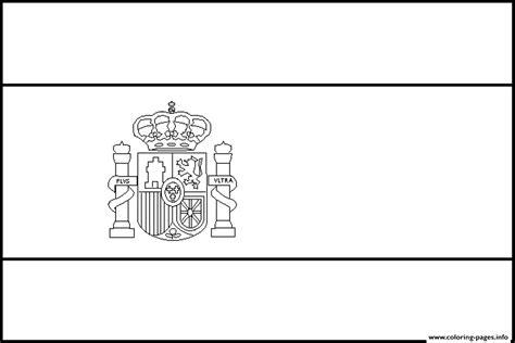 Spain Flag Simple Coloring Pages Printable Printable Spain Flag