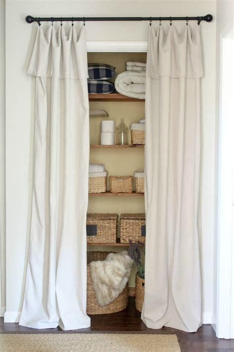 Cloth Closet Doors Closet Door Alternative Easy Drop Cloth Curtains Sincerely Designs