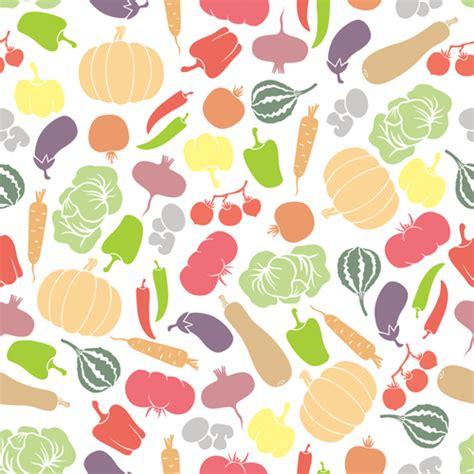 vegetables pattern wallpaper colored vegetables seamless pattern vector 01 vector