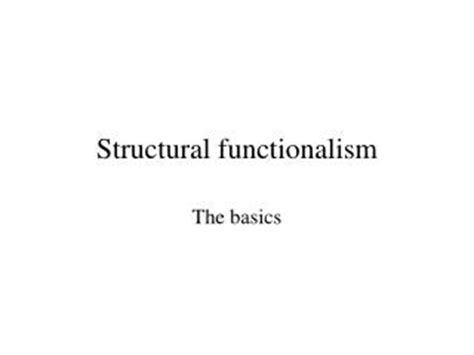 pattern variables merton ppt structural functionalism powerpoint presentation