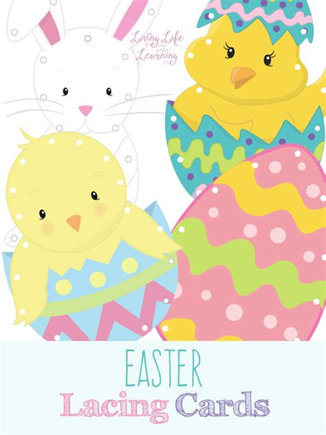 printable children s easter cards easter lacing cards