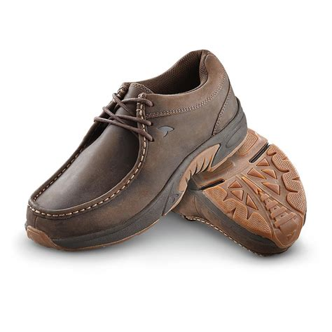 mens rugged shoes s rugged shark 174 mackinaw shoes brown 281643 casual shoes at sportsman s guide