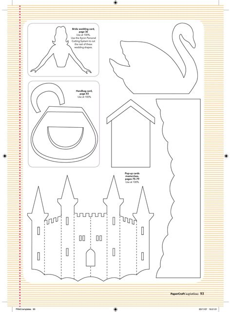 Craft Templates Free Templates From Issue 43 Papercraft Inspirations Templates Free Printable Craft Templates
