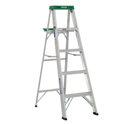5 Ft Step Stool by Werner 5 Ft Aluminum Step Ladder With 225 Lb Load