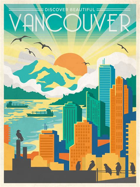 poster design vancouver discover beautiful vancouver heymarcus ca
