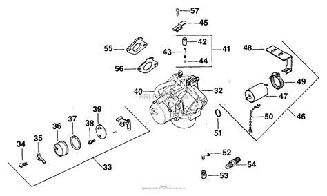 kohler carburetor diagram kohler k181 engine parts diagram kohler kt17 parts diagram