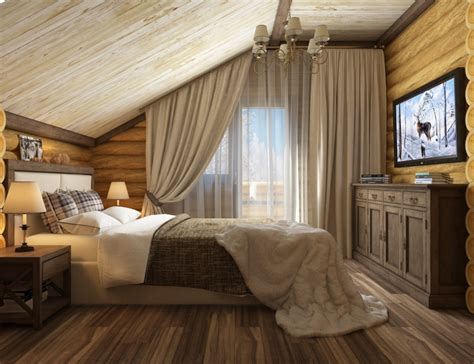 chalet style bedroom chalet style design and visualization