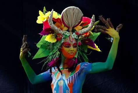 world bodypainting festival australia from to aliens spectacular characters of the 2017