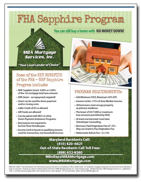 Mba Mortgage Services Inc by Fha Sapphire Home Loan Grant 888 632 8380