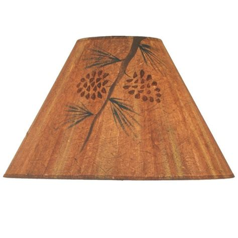 Rustic L Shade by Rustic Pine Cone L Shade