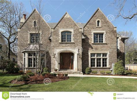 brown brick luxury home stock image image 12523971