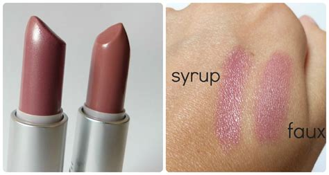 Mac 384 Color Stay Lipstick Soft Smooth mac syrup vs mac faux lip makeup lipstick makeup mac syrup mac faux and lip