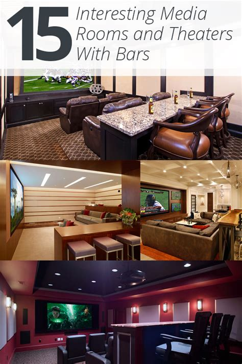 Cabana Designs 15 Interesting Media Rooms And Theaters With Bars Home