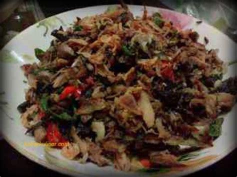 resep ikan tongkol asap suwir masak pedas kabarkulinercom