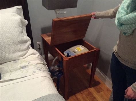 Bedside Table Charging Station by Cpap Bedside Table By Toddbeaulieu Lumberjocks Com