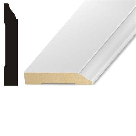 mdf home depot kelleher lwm623 1 2 in x 5 1 4 in mdf base moulding mdf228a the home depot