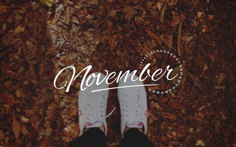 november 2015 desktop calendar wallpaper paper leaf