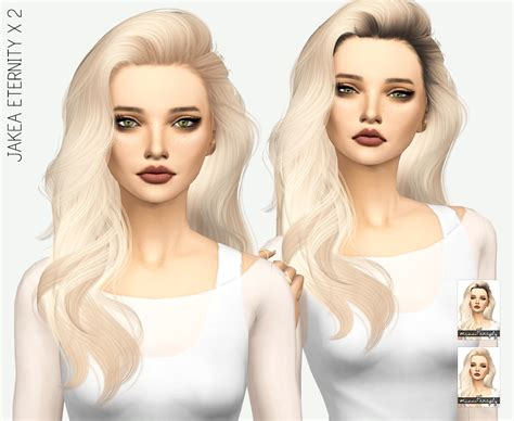 sims 4 hair sims 4 hairs miss paraply jakea eternity hair retextured