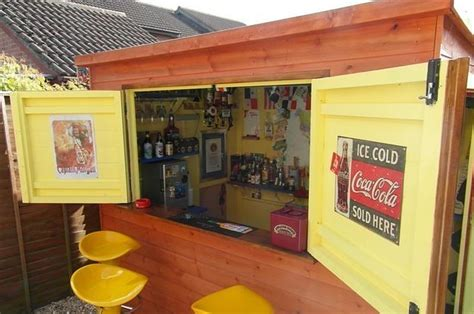 Pub Shed by This Is How To Make Your Shed Into Your Own Bar