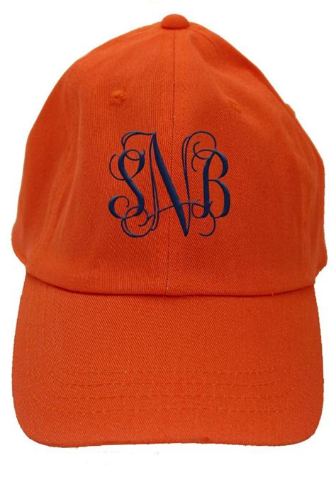 cat personalized orange baseball hat from