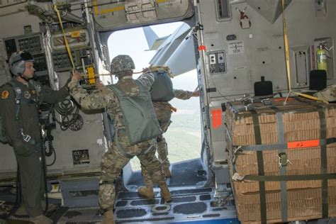 airborne division tests  wheeled cargo delivery