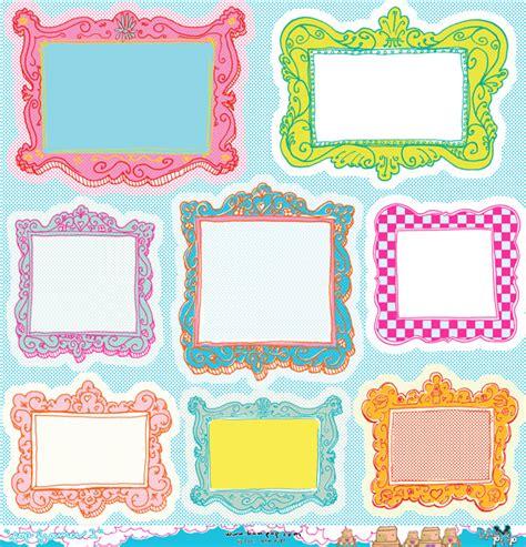 Paper Frames - die cuts bam pop