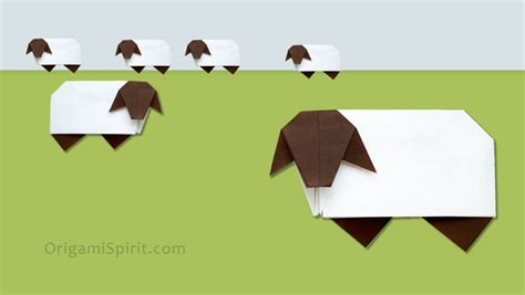 Origami Sheep - origami sheep easy tutorial