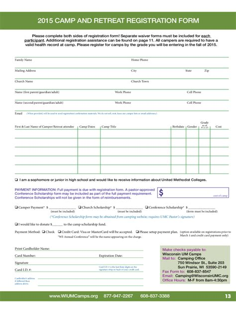 Retreat Registration Form 2 Free Templates In Pdf Word Excel Download Wisconsin Employment Application Template