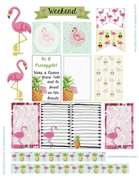 free printable journal stickers free printables flamingo happy planner stickers agenda