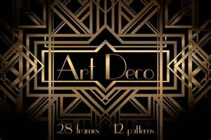 Art Deco art deco frames and patterns patterns on creative market